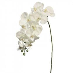 Orkidé på stjälk, 103 cm Crèmefärgad, konstgjord blomma