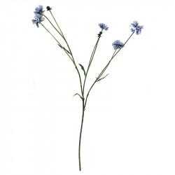 Blåklint, 5 blommor och 2 knoppar, Blå, konstgjord blomma