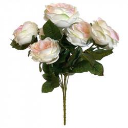 Rosbuktett, 9 st, rosa, konstgjord blomma