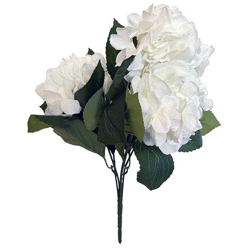 Hortensia-bukett, 45 cm med 5 stjälkar Vit