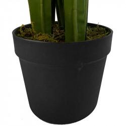 Agapantus i svart kruka, 96 cm, konstgjord blomma