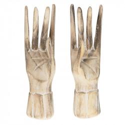 Stående hand i trä, H20cm
