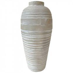 Vas av bambu, cylinder, tål inte vatten, 25cm