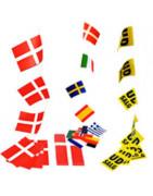 Flagg girlanger ⇒ Många olika nationaliteter & festligheter!