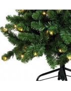 Konstgjorda julgranar med ljus